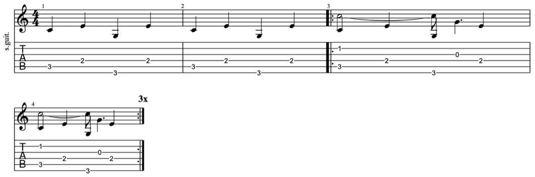fingerpicking patterns - intermediate fingerpicking exercises 2- learn fingerstyle on guitar