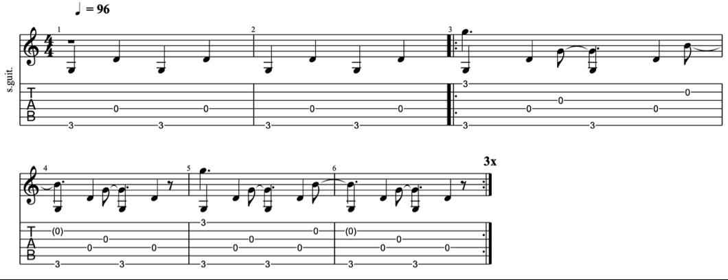 fingerpicking patterns - intermediate fingerpicking exercises 4 - learn fingerstyle on guitar