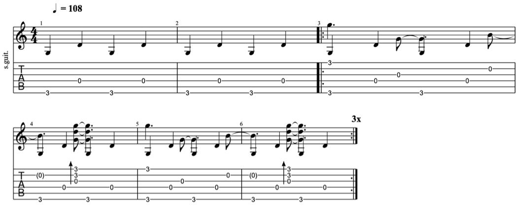 fingerpicking patterns - intermediate fingerpicking exercises 5 - learn fingerstyle on guitar