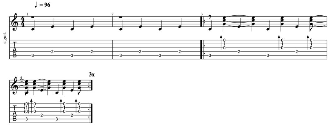 fingerpicking patterns - intermediate fingerpicking exercises 6 - learn fingerstyle on guitar