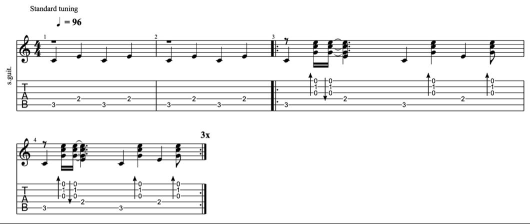 fingerpicking patterns - intermediate fingerpicking exercises 7 - learn fingerstyle on guitar