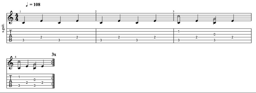 fingerpicking patterns - intermediate fingerpicking exercises 1 - learn fingerstyle on guitar